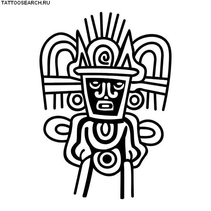 Татуировки в стиле майя рисунки 113