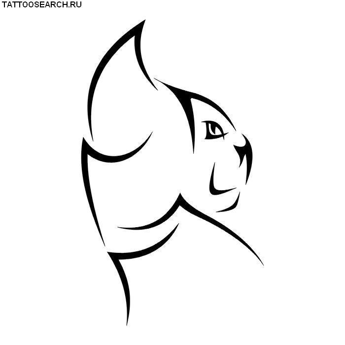 Эскизы тату животные черно белые 135