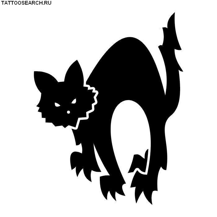 Эскизы тату животные черно белые № 131